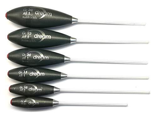 Dream Set mit 6 unverwüstlichen Bombarden, 1 sinkende Samen, 8 g, 10 g, 15 g, 20 g, 25 und 30, unverwüstliche Qualität seit 1997