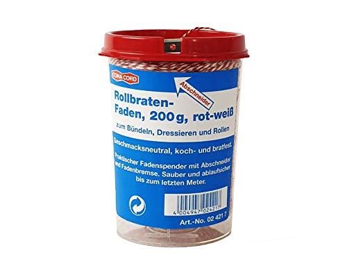 Schinkenfaden 340m Wurstgarn Wurstbindegarn Küchengarn Strick Schnur rot-weiß, Wunsch:1 Stück