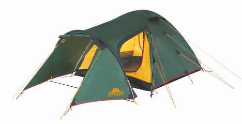 ALEXIKA Zelt Zamok 4, grün (außen)/gelb (innen), 220x420x125 (BxLxH), 9126.4101