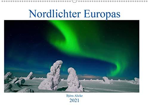 Nordlichter Europas (Wandkalender 2021 DIN A2 quer)