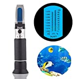 Aquarium Salinity Refractometer for Brackish/Marine/Reef Tank Testing,Hobein Dual Scale Automatic Temperature Compensation 0-100ppt & 1.000-1.070 Specific Gravity with ATC