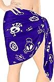 LA LEELA Bufanda para Cubrir la Cara s Skulls De Halloween Costume Las Mujeres Pareo Mujer Playa Corto Traje de baño Traje de baño Falda Pareo Mujer Playa Envoltura Mini Ropa de Playa Azul_B930