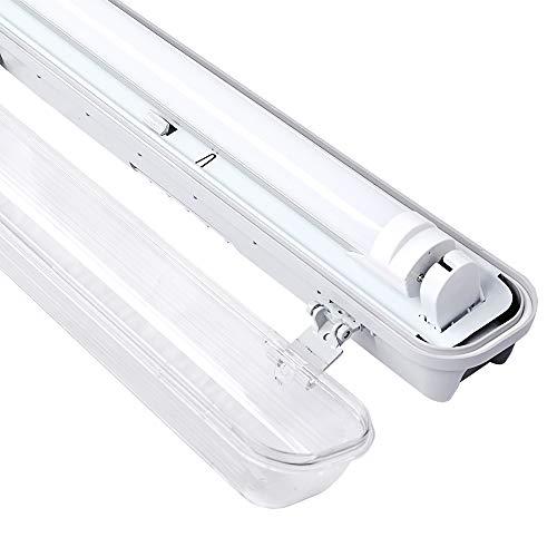 VINGO LED Feuchtraumleuchte 60 CM Deckenleuchte 9W Wannenleuchte Neutralweiß Werkstattleuchte G13 T8 Lampe LED Röhre Werkstatt Leuchtstoff Röhren
