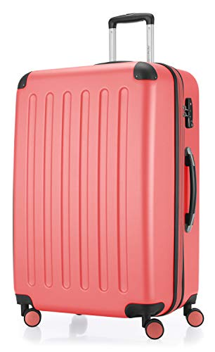 Hauptstadtkoffer - Spree - Luggage Suitcase Hardside Spinner Trolley Expandable 75 cm TSA, Coral
