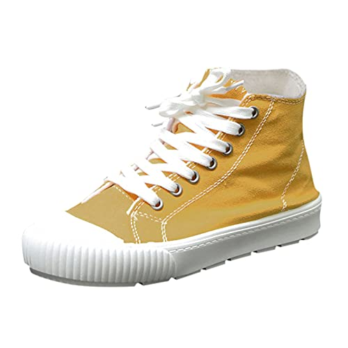 Zapatos Deporte Mujer Zapatos de Malla Transpirables y Ligeros Zapatillas Deportivas Correr Gimnasio Zapatillas Mujer Verano(A36_Yellow,41)