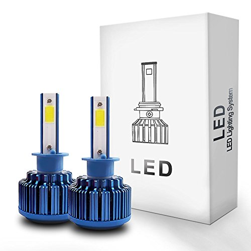 Autolizer LED Headlight Conversion Kit - H1 - COB 2-Sided - 52W, 5000LM 6000K Cool White