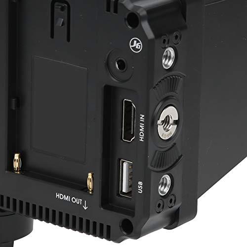 Monitor de Campo de la cámara, Monitor de Campo de la cámara con Pantalla táctil, Monitor Visual de luz Diurna Brillante de 2500 Nits, Ranura para Tarjeta de Doble batería