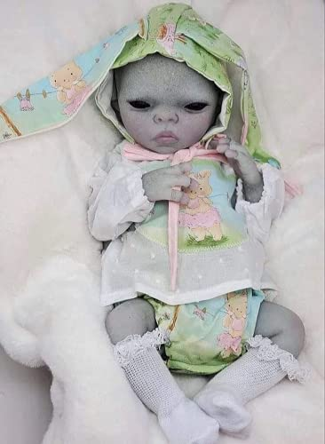 AN-LOKLIK DIY Realistic Alien Baby Unpainted 19inch Reborn Doll Kits with Cloth Body Handmade Mold...
