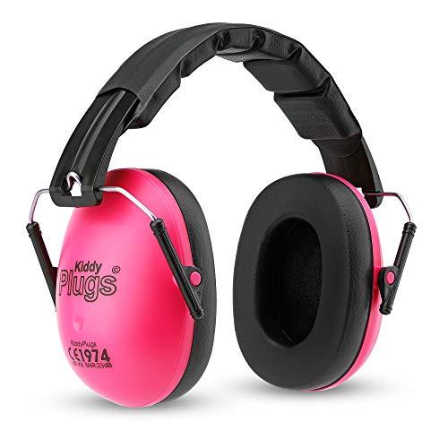 KiddyPlugs Kinder Kapsel Gehörschutz 8 Farben, Lärmschutz Kopfhörer Kinder, faltbar, größenverstellbar, weich gepolstert - für Kinder, Jugendliche und Erwachsene by (Pink)