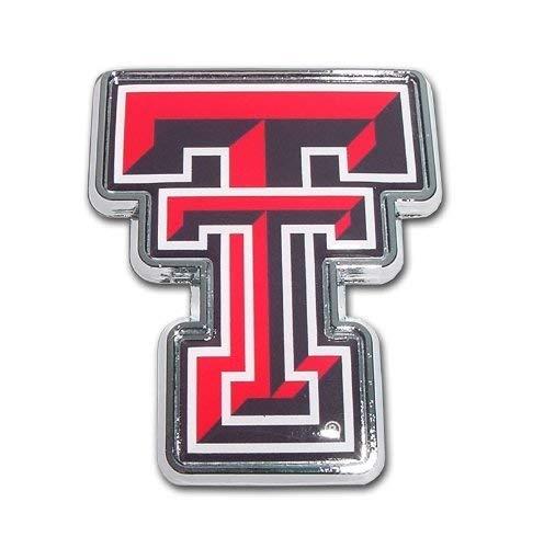 Texas Tech University Red Raiders 'Color TT' Chrome Plated Premium Metal NCAA College Car Truck Motorcycle Emblem