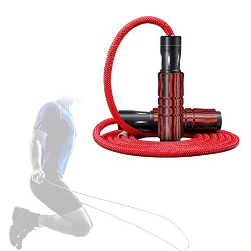 Yunjio Comba Fitness Combas para Saltar Aptitud de la Cuerda Cuerda de Saltar con Contador Adultos de Saltar la Cuerda Adultos Saltar Cuerdas para Fitness Red,3m