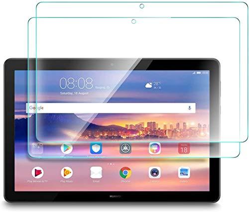 Lspcase Panzerglasfolie für Huawei Mediapad T5 10 10.1 Zoll [2 Stück] - 9H Schutzfolie HD Bildschirmschutzfolie Tempered Glas Schutzglas Folie für Huawei Tablet Mediapad T5 10 10.1 Zoll 2018