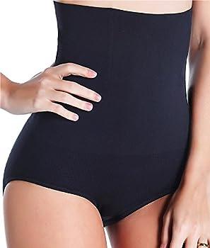Women Waist Trainer Tummy Control Panties Body Shaper High Waisted Shapewear Briefs Butt Lifter Slimming Corset Seamless  Black Medium-Large