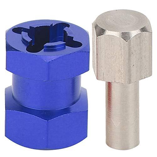 RC Hex Adapter, RC Verlängerungsrad Hex Hub Metal Driver Adapter Kompatibel mit D90 AX10 CC01 SCX10 F350( Blau )