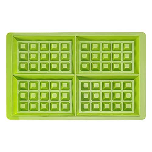 Juudoiie Molde Redondo Waffle Molde Rectangular Molde de Silicona de Platino Molde de Muffin de Silicona Antiadherente y Alta Temperatura Resistente a Las Herramientas de Hornear para Hornear