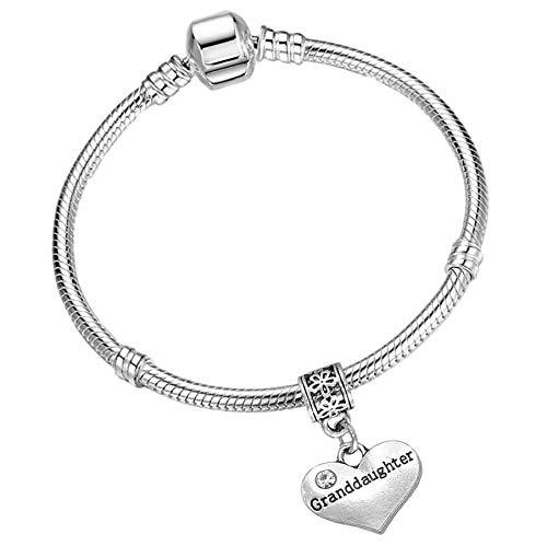 Charm Buddy  Bracelet /à Breloques Licorne en Cristal /étincelant avec Coffret Cadeau pour Fille