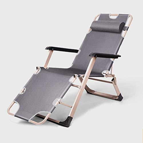 WUTONG Sillón reclinable Relax Lazy, Silla de Campamento Plegable portátil, jardín de Festivales de Camping, diseño de Silla Widen para Dormir cómodo