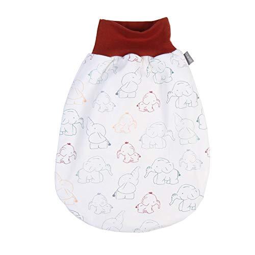 """Lilakind"""" Baby Kinder Sommer Schlafsack Strampelsack Pucksack mit Reißverschluss Jersey Elefanten bunt Gr. XL - Made in Germany"""