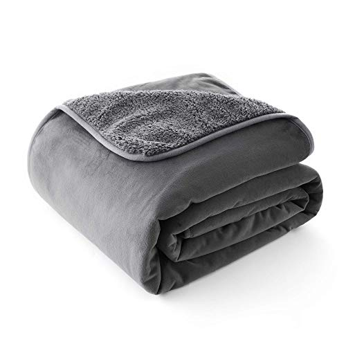 Allisandro Premium Waterproof Dog Blanket[ 100x75cm, Grey] Pet Pee Proof Cover Throws for Couch Sofa Bed Car Seat, Soft Sherpa Cushion Mat for Small Medium Large Puppy Dogs Cats