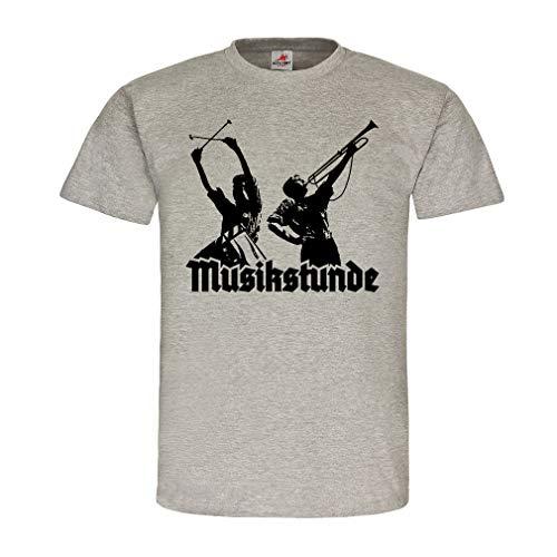 Musikstunde Spielmannzug Trommel Fanfare Landsknecht Jugend T Shirt #19881, Größe:XXL, Farbe:Grau