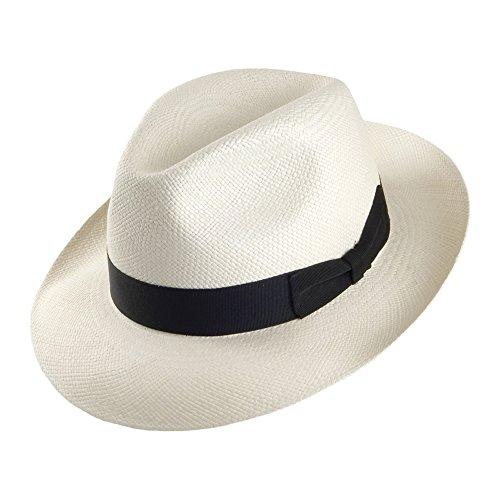 Village Hats Chapeau Fedora Panama Valencia décoloré Signes - Large