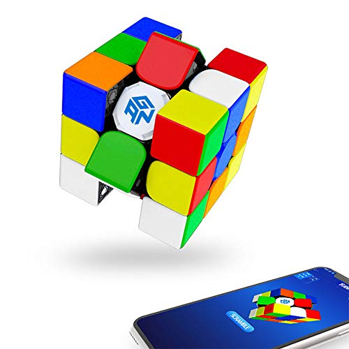 GAN 356i Play Stickerless, 3x3 Smart Cube Intelligent Tracking Timing Movimento Step Cube Puzzle 3x3