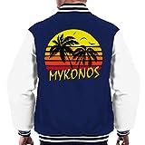 Cloud City 7 Mykonos Vintage Sun Men's Varsity Jacket