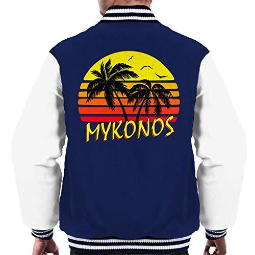 Cloud City 7 Mykonos Vintage Sun Men\'s Varsity Jacket