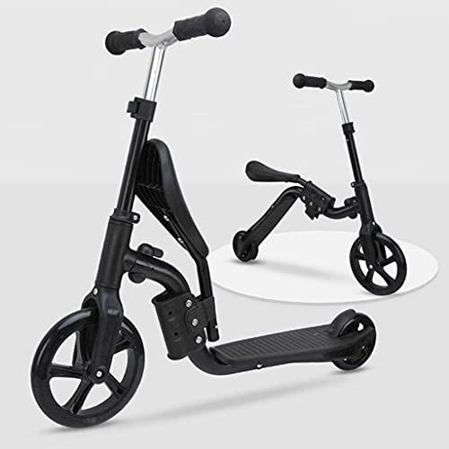 SOPHM5 Patinete Freestyle Scooter de Kick 2-IN-1 con Manillar y Asiento Ajustable, Transformar el Scooter del niño, la Bicicleta de Entrenamiento de Equilibrio de Viaje Convertible Durante 2-5 años