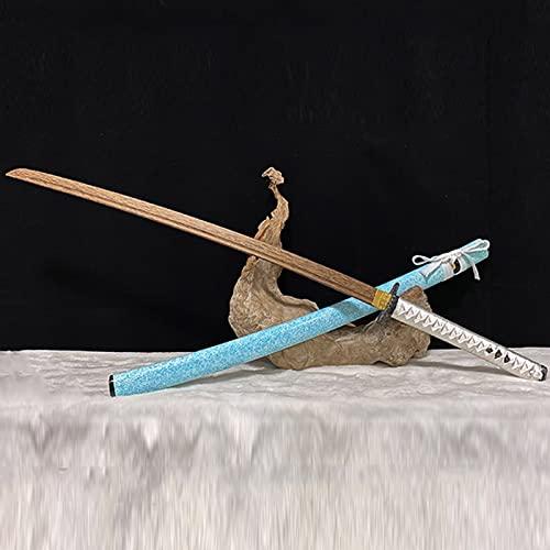 GYFDC Espada samuri de Madera de ala de Pollo,Cuchillo de Madera con Vaina,Katana Japonesa para Entrenamiento de Kendo,Accesorios de actuacin,Entrenamiento de Artes Marciales