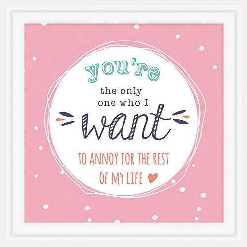 Inconditional Rosie 5º año de Boda y Compromiso Regalos | Mosaico de 7 x 7 | 5 años de relación para Pareja para Esposa, Marido, Novio y Novia