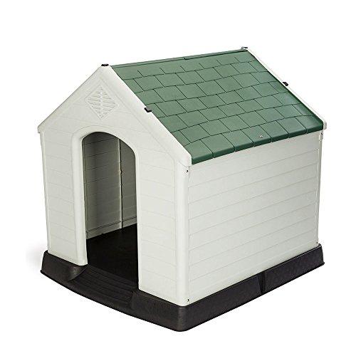 【Branch Dog】 犬小屋 大型犬用 ドッグハウス シェルター 屋外用 413 (緑) (プラスチック製)ヨーロッパ・アメリカ輸出用