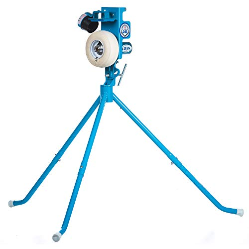 JUGS PS50 Baseball and Softball Pitching Machine — The Introductory-Level Pitching Machine That Throws up to 50 mph. Throws Both Baseballs and softballs.