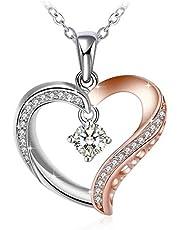 Swarovski Elements Crystal 925 Sterling Silver Pendant Necklace for Women Ladies Girls Gift JRosee Jewelry JR461