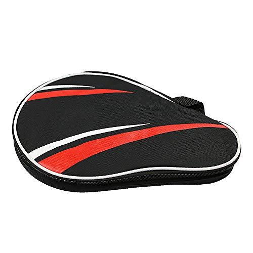 Bocotoer - Bolsa para raquetas de tenis de mesa, impermeable, para 2 raquetas de ping pong, 3 pelotas, color negro y naranja