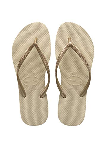 Havaianas Slim, Chanclas para Mujer, Oro (SandGrey/Light Golden), 37/38 EU