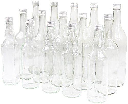 Wamat Spirituosenflasche Weinflasche Glasflasche Leere Flasche neu (Menge: 8 STK. Kapazität: 0,5 Liter ohne Verschluß)