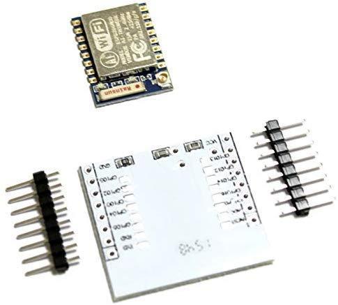 Paradisetronic.com Placa Adaptadora ESP-07, módulo WLAN de 3.3V con SoC ESP8266, Antena de Cerámica, UART, SPI, WiFi, p. para Arduino IDE
