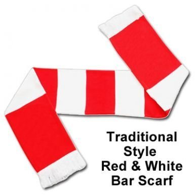 Red & White Bar Scarf by Arsenal F.C.