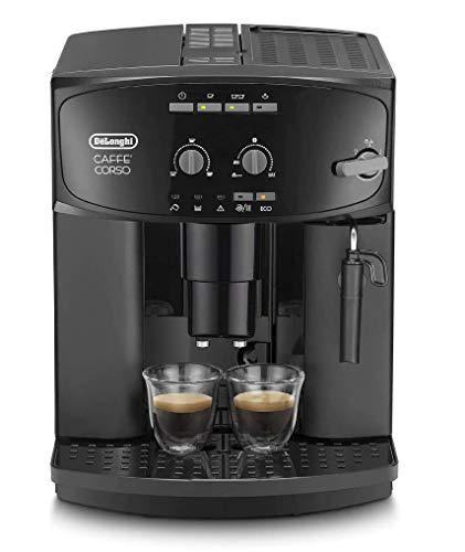 De'Longhi ESAM 2600 – Kaffeevollautomat mit Milchaufschäumdüse, mit Direktwahltasten & Drehregler, 2-Tassen-Funktion, großer 1,8 l Wassertank, 28,5 x 37,5 x 36 cm, schwarz