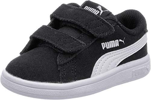 PUMA Smash v2 Suede Babies Sneaker Puma Black-Puma White UK 3_Infant_FR 19