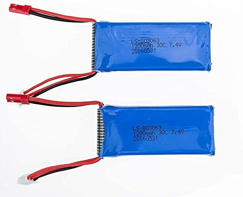 YUNIQUE ESPANA 2 Pieza Extra 7.4V 1200mAh Lipo batería para Yizhan Tarantula X6 / JJRC H16 RC / MJX X101 Quadcopter