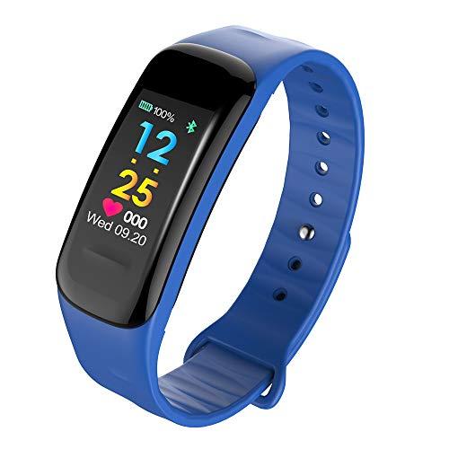 Fitness Armband mit Pulsmesser Blutdruck/Dorical Fitness Tracker Smartwatch GPS Aktivitätstracker Wasserdicht IP67 Pulsuhren Vibrationsalarm Anruf SMS für Damen Herren Kinder(Blau)