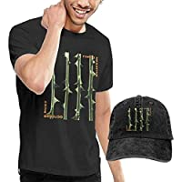Thimd Camiseta de Manga Corta para Hombre,Gorra de béisbol Combinación Negro Type O Negative October Rust T Shirt and Denim Baseball Dad Hat