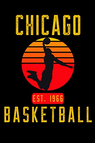Chicago Basketball: Retro Sunset Basketball Player Notebook Gift Idea