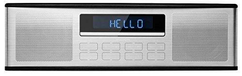 MEDION LIFE P64000 Kompaktanlage, kabellose Musikübertragung via Bluetooth, Wiedergabe vom USB Stick, MP3/CD kompatibel, PLL-Stereo UKW-Radio, 30 Senderspeicher, schwarz