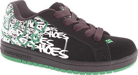 DC Shoes Kids' Court Graffik SE P/G (Blk/Emerald/Wht PRT 11.0 M)