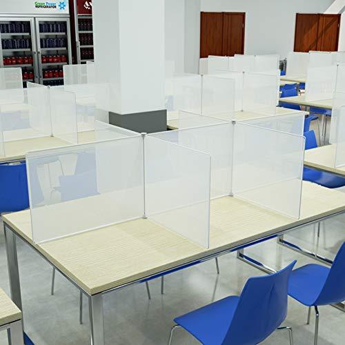 LILIJIA Schutztrennwand, Plexiglasschirm Gegen-acryl Tragbarer Nieschirm Klarer Schutzschirm, für Schreibtisch Verstellbare Barriere Student Schreibtisch,B