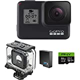 GoPro H7 Black + Extra Battery + Super Suit Dive Housing Case + 64GB SD Card- E-Com Packaging - Waterproof Digital Action Camera with Touch Screen 4K HD Video 12MP Photos Live Streaming Stabilization