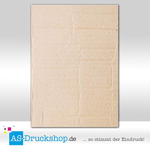 Designpapier Textur - Struktur - Pappe / 100 Blatt/DIN A4 / 90 g-Offsetpapier